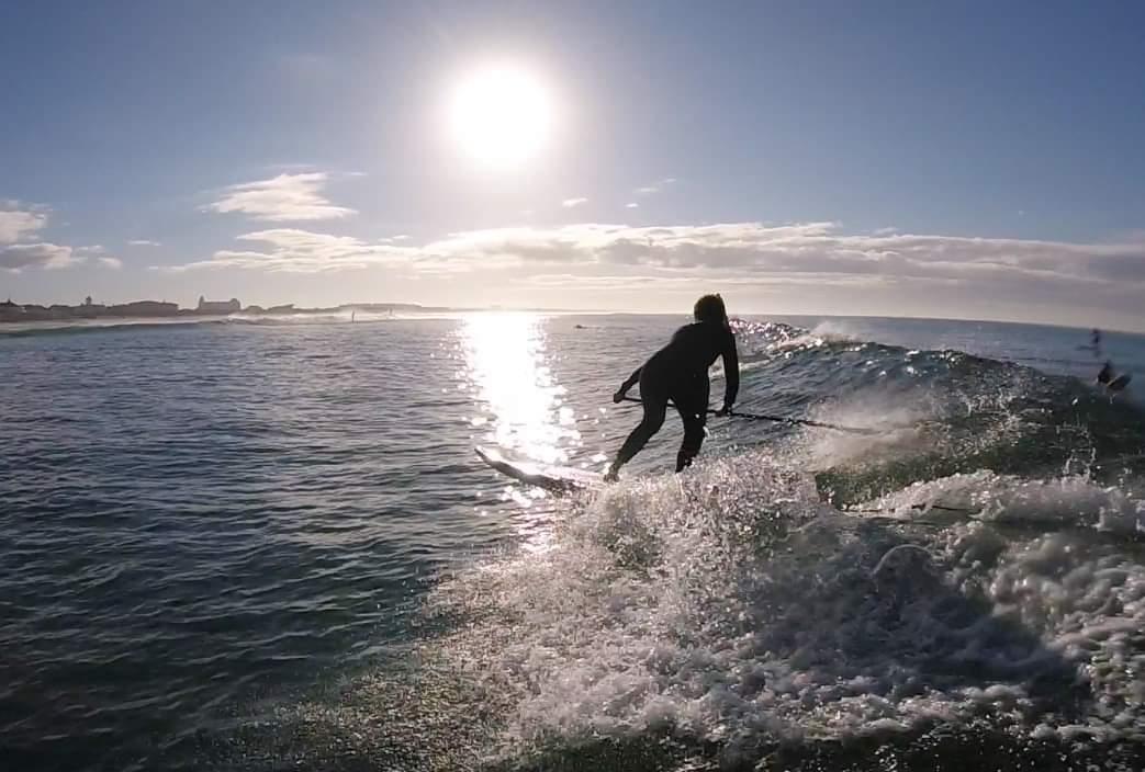 Melissa surfing