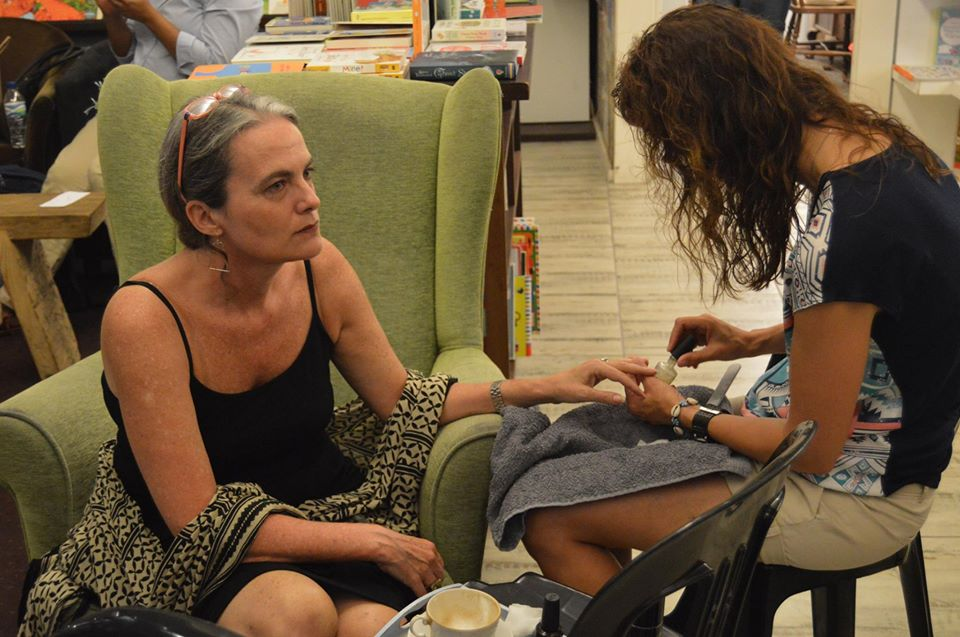 Missy-doing-my-nails-before-my-book-launch...
